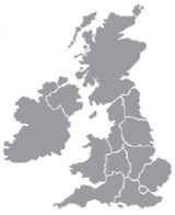Map of UK regions