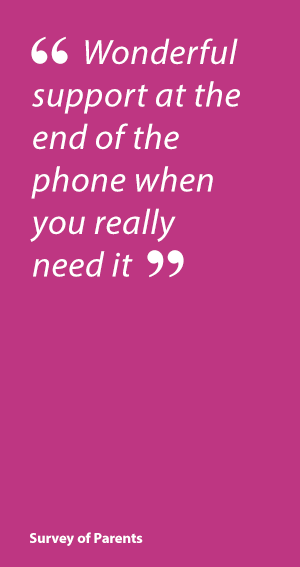 Parent Quote: Child Autism UK: Wonderful support at the end of the phone when you really need it.