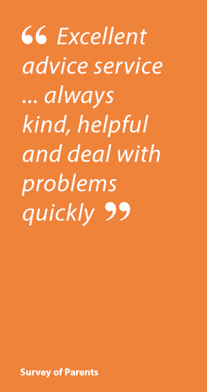 Parent Quote: Child Autism UK: Excellent advice service  ... always kind helpful and deal with problems